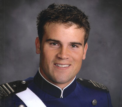 "U.S. Air Force Capt. Mark ""Tyler"" Voss graduated from the U.S. Air Force Academy in 2008. He perished in a plane crash near Chon-Aryk, Kyrgyzstan, while on his sixth deployment in 2013. (Photo courtesy of Mark Voss's family)"