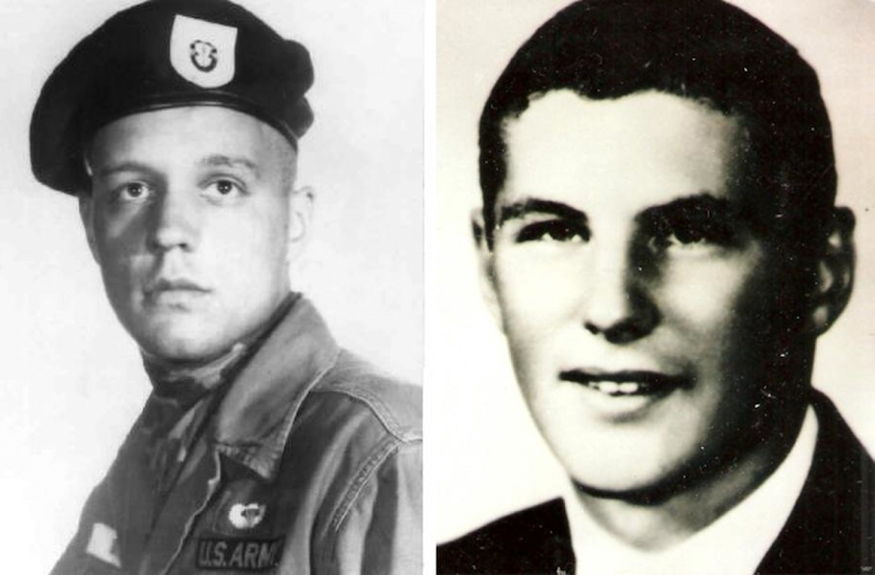 Sgt. 1st Class Alan Boyer, left, and 1st Lt. Doug Hagen, who were high school classmates and served in Vietnam. (Courtesy photos by the Boyer and Hagen families)