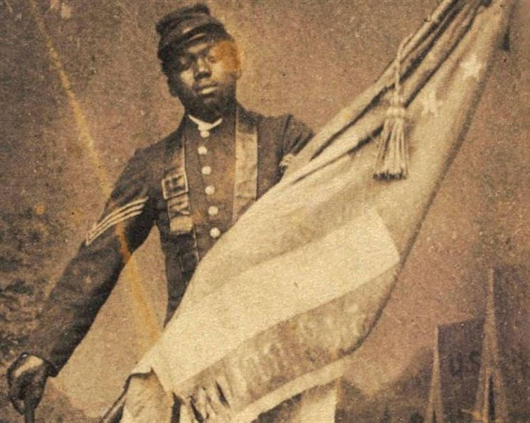 Army Sgt. William H. Carney was the first of the nation's 88 African-American Medal of Honor recipients, earning the medal during the Union Army's charge on Fort Wagner during the Civil Warn and catching the falling American flag. (U.S. Army photo - 1863)