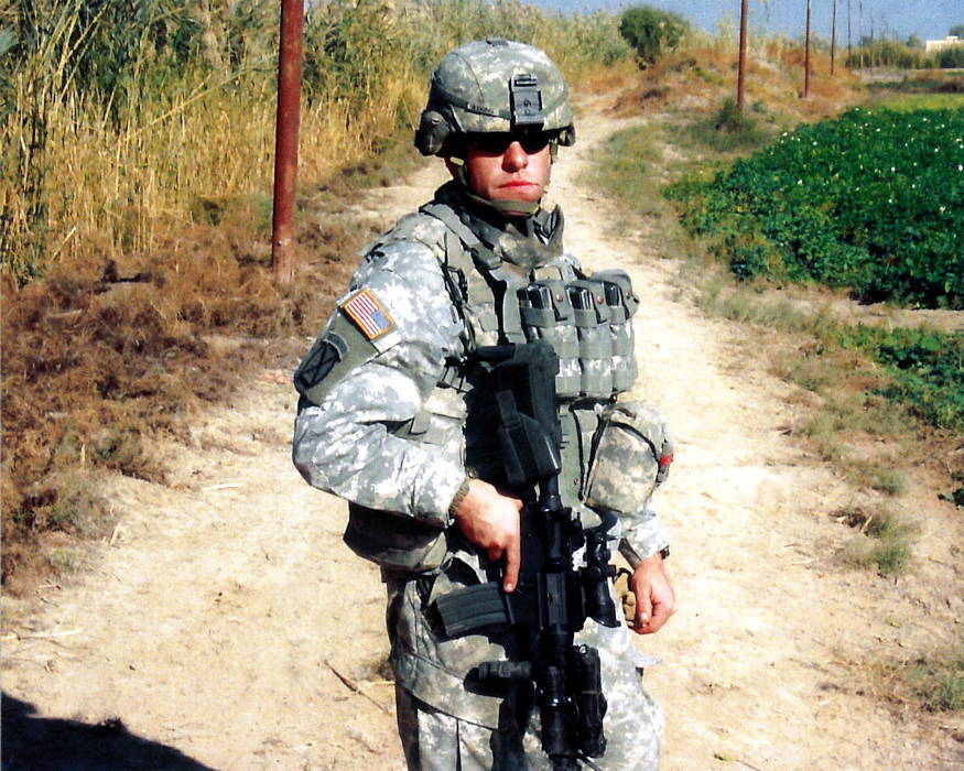 Staff Sgt. Travis Atkins in Iraq during 2007. (U.S. Army courtesy photo)
