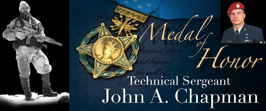 John A. Chapman - Medal of Honor Recipient (Image created by USA Patriotism! from U.S. Air Force courtesy photos)