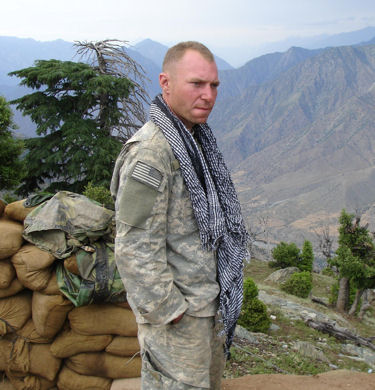 Then Staff Sgt. Jared Monti in the mountains of Afghanistan sometime before the battle June 21, 2006, in which he gave his life trying to help another Soldier.