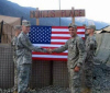 "2006 - Fellow soldiers in Afghanistan at ""Monti's Place,"" named after Sgt. 1st Class Jared C. Monti"
