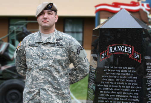 The White House announced May 31, 2011, that Sgt. 1st Class Leroy A. Petry, now serving as part of Headquarters and Headquarters Company, 75th Ranger Regiment at Fort Benning, Ga., will receive the Medal of Honor. Photo by U.S. Army