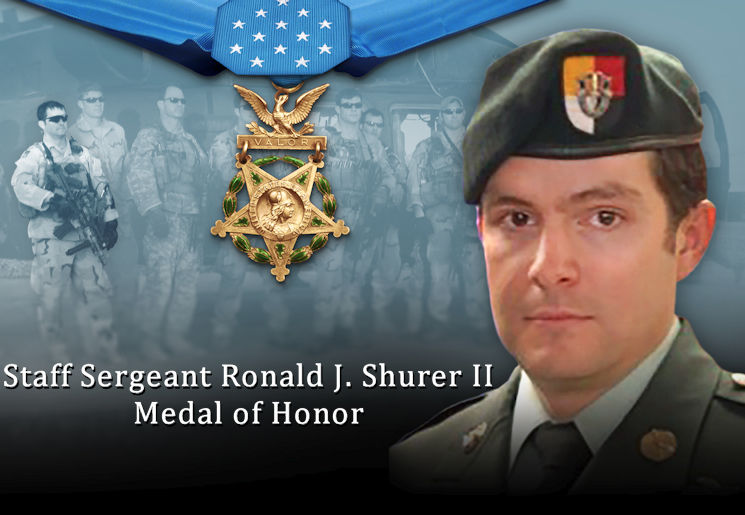 Ronald J. Shurer II - Medal of Honor Recipient (Image created by USA Patriotism! from U.S. Army graphic)