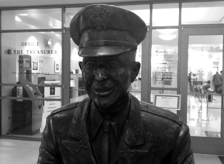 February 13, 2017 - In 2001, the city Hampton, Va., dedicated a seven-story building and a bronze statue in honor of U.S. Army 1st Lt. Ruppert L. Sargent, located in downtown Hampton, VA. Sargent was the first African-American officer to be awarded the Congressional Medal of Honor for his heroic actions during the Vietnam War. (U.S. Air Force photo by Tetaun Moffett)