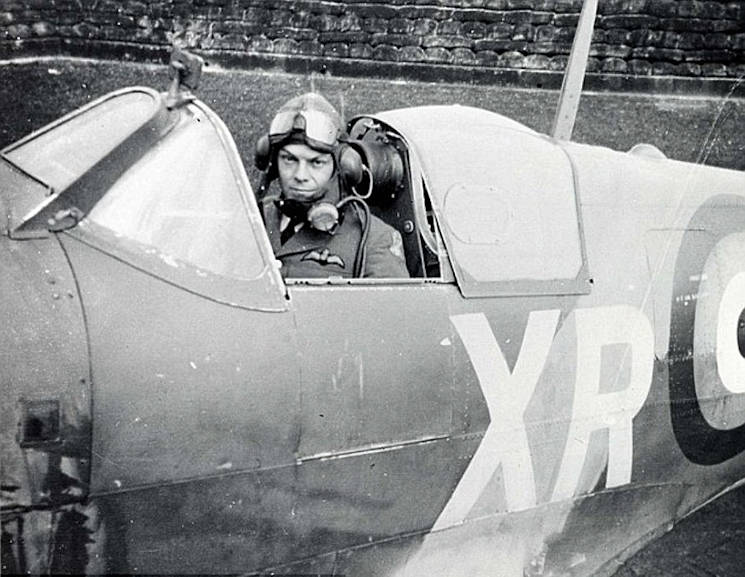 William Dunn, British Royal Air Force Squadron 71 pilot, is the first American Ace of World War II. Although Dunn was the first American ace, the title originally went to Gregory Daymond, a fellow pilot with No. 71 (Eagle) Squadron, and Dunn was not officially recognized until March 19, 1968. (Courtesy photo provided through U.S. Air Force)