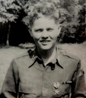 Photo from 1945 when now retired Col. Roy Moore Jr. commanded B Company, 735th Tank Battalion, in World War II.