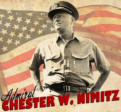 Poster of Admiral W. Chester Nimitz illustrated by U.S. Navy Mass Communication Specialist 2nd Class Larry Wolfe on May 2, 2011