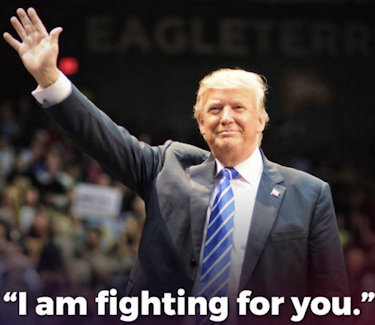 "Donald Trump 2016 Presidential Campaign Image ... ""I am fighing for you."""