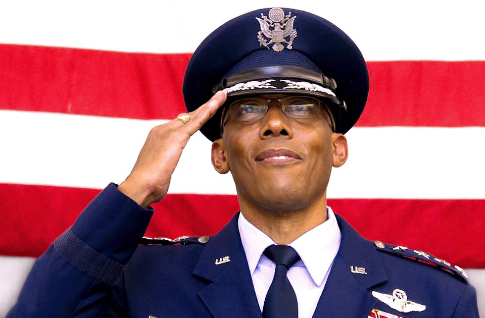 June 9, 2020 - Four-star General Charles Q. Brown Jr. was unanimously confirmed by U.S. Senate as the U.S. Air Force's chief of staff in a 98-0 vote, making him the first Black American to lead a U.S. military service. He was nominated to Chief of Staff of the United States Air Force on March 2, 2020 by President Donald Trump. (Image created by USA Patriotism! from U.S. Air Force courtesy photo.)