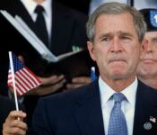 President George W. Bush at a 9/11/01 Service