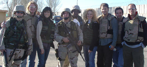 Little Big Town with troops in Afghanistan - 2004