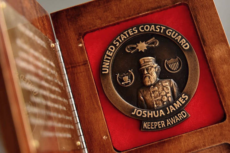 The Joshua James Ancient Keeper Award is named for Capt. Joshua James, who is credited with saving more than 600 lives in his lifetime. (U.S. Coast Guard photo by Petty Officer 2nd Class Patrick Kelley)