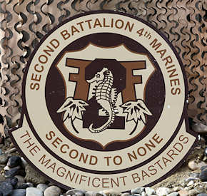 "he ""Magnificent Bastards"" of 2nd Battalion, 4th Marines seal"