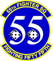 U.S Air Force 55th Fighter Squadron seal