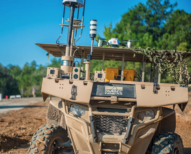 August 22, 2017 - A Maneuver Robotics and Autonomous Systems Live Fire Demonstration takes place at the Digital Multi-Purpose Range Complex at Fort Benning, Georgia. The Army wants to design a Remote Combat Vehicle like this one, but much more lethal and maneuverable. (U.S. Army photo by Patrick A. Albright)