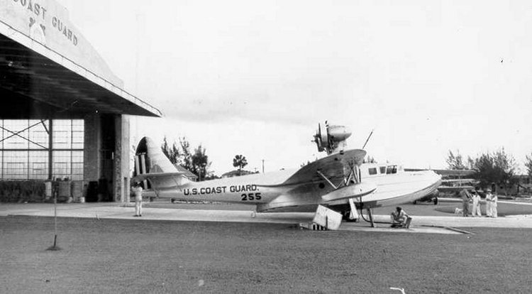 Arcturus, one of several early Coast Guard amphibian aircraft given names rather than numeric designations. It was on board Arcturus that von Paulsen earned the first Gold Lifesaving Medal awarded for an aviation search and rescue mission. (Photo courtesy of the U.S. Coast Guard Aviation Association)