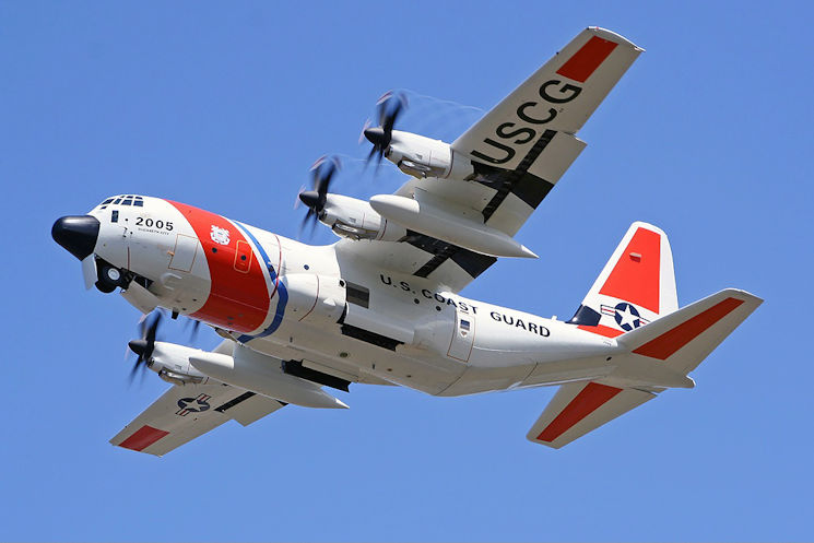 U.S. Coast Guard HC-130 Hercules taken at Lajes Air Base (Terceira Island) in the Azores, July 23, 2005. (U.S. Coast Guard photo by Jo�o Eduardo Sequeira)