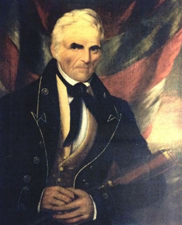 Portrait of Master John Cahoone wearing the 1829 version of the Revenue Cutter Service officer's uniform. (Photo courtesy of Louis Roth via U.S. Coast Guard)