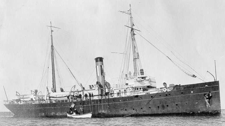 The Revenue Cutter SENECA on patrol during its 28 yeard service that began in 1908 that included interdicting illegal smugglers during the Prohibition in the 1920's. (Photo courtesy of Coast Guard Atlantic Area Historians Office)