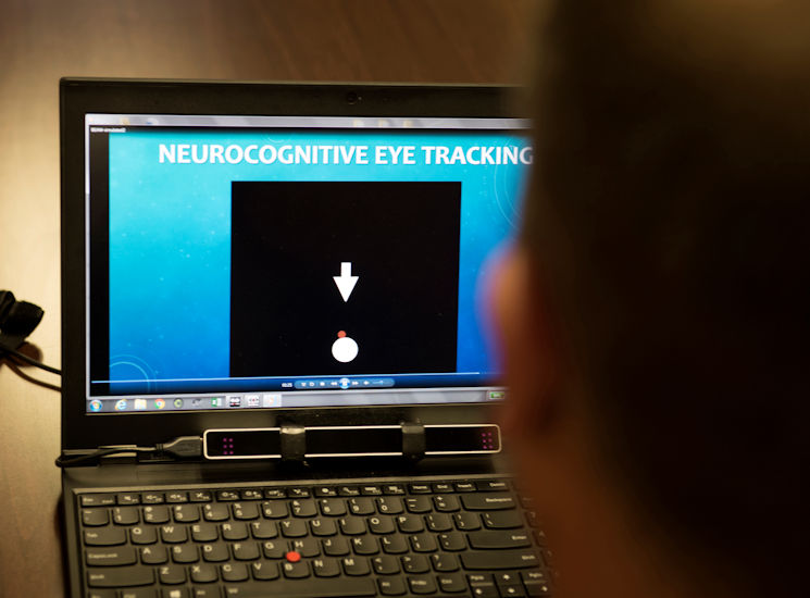 September 15, 2017 - A computer screen displays a neurocognitive eye tracker used in determining potential traumatic brain injuries at Naval Medical Center San Diego in California. (DoD photo by EJ Hersom)