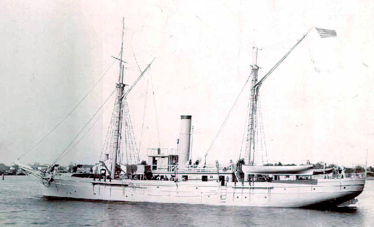US Revenue Cutter Woodbury during the 1891 period. (U.S. Navy courtesy photo)