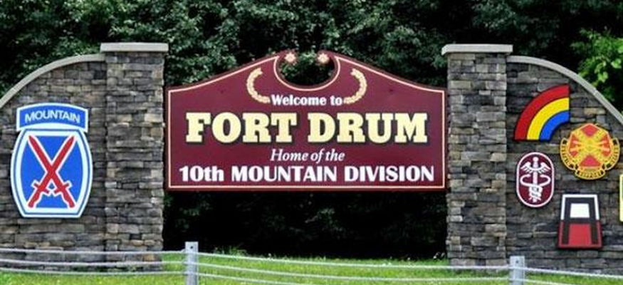 U.S. Army Fort Drum Welcome Sign