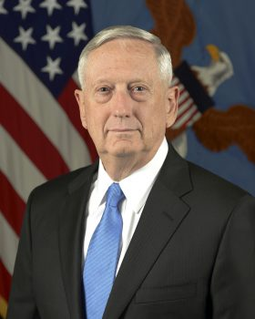 Secretary of Defense Jim Mattis (Retired Marine Corps General) U.S. Army photo by Monica King, January 2017