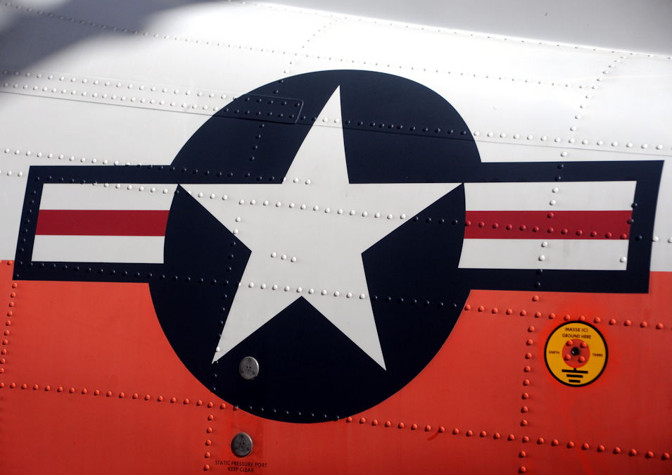 April 1, 2019 - The U.S. military aircraft national insignia is painted on the side of a T-6B Texan II single-engine turboprop trainer aircraft assigned to Training Air Wing 5 at Naval Air Station Whiting Field, Florida. The insignia is protected under the Naval Aviation Trademark Program. (U.S. Navy photo by Lt. Michelle Tucker)