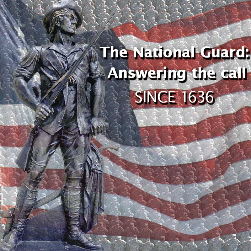 The National Guard celebrates its historic birthday on December 13th ... On this date in 1636, the first militia regiments in North America were organized in Massachusetts. Based upon an order of the Massachusetts Bay Colony's General Court, the colony's militia was organized into three permanent regiments to better defend the colony. Today, the descendants of these first regiments - the 181st Infantry, the 182nd Infantry, the 101st Field Artillery, and the 101st Engineer Battalion of the Massachusetts Army National Guard – share the distinction of being the oldest units in the U.S. military. December 13, 1636, thus marks the beginning of the organized militia, and the birth of the National Guard's oldest organized units is symbolic of the founding of all the state, territory, and District of Columbia militias that collectively make up today's National Guard. (Image provided by National Guard)