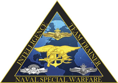 Information Warfare Training Command San Diego's Naval Special Warfare Intelligence Team Trainer logo. (U.S. Navy graphic by Michele Diamond)