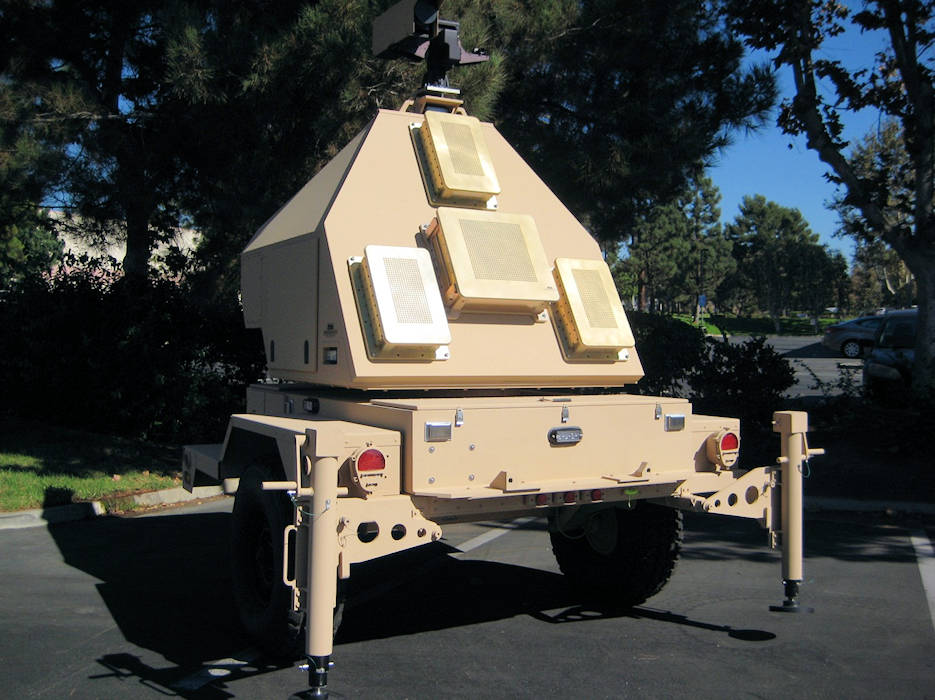April 1, 2018 - A towed radar similar to what the future Projectile Tracking System radar might look like. The long-range cannon team is reusing this system developed for a now-discontinued artillery project. The tracking system follows projectiles in flight to predict where the rounds will hit, allowing Soldiers to make corrections for subsequent shots.