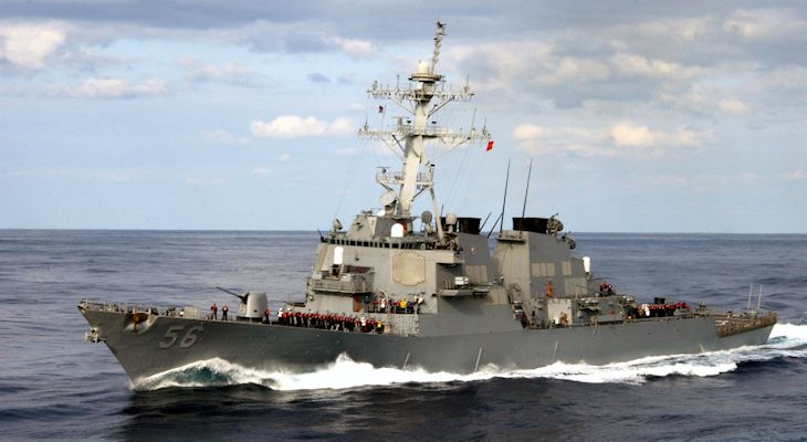 Arleigh-Burke-class guided-missile destroyer USS John S. McCain (DDG 56)