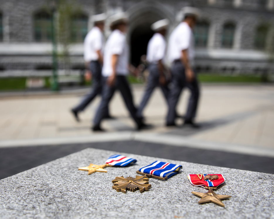 May 2, 2019 - More than 40 members of West Point's staff and faculty have received formal awards for valor or heroism. These include the Silver Star, Distinguished Flying Cross, Bronze Star (with valor device) and others. (U.S. Army photo by Matthew Moeller, West Point PAO)