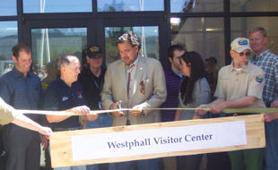 New Mexico Governor Bill Richardson dedicating the renovation of the Visitors Center at the Vietnam Memorial Park at Angel Fire on May 29, 2010
