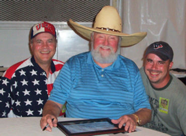 David Bancroft, founder of USA Patriotism! with country legend Charlie Daniels, and Mike Bancroft, a Marine / Iraq War veteran and David's youngest son.