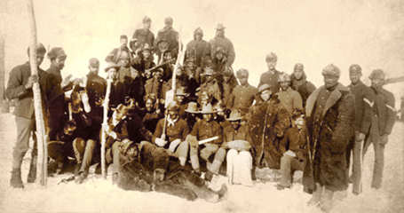 "In order to settle problems in 19th century New Mexico, the U.S. Army called upon a group of recently freed black men to form the 9th and 10th Cavalries. They subsequently became known as ""Buffalo Soldiers."" (Courtesy photo/49th Fighter Wing History Office)"