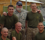 Charlie Daniels with troops during his 2006 tour in Iraq