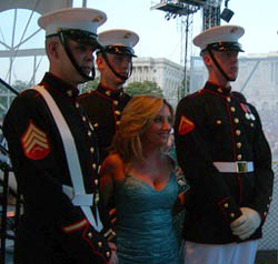 Lee Ann with Marines at Memorial Day 2006 Celebration in Washington, D.C.