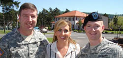 Lee Ann with troops at Landstuhl Medical Center in Germany