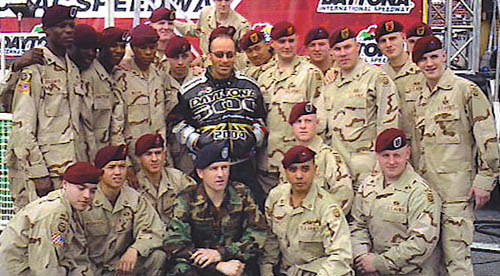 Lee Greenwood with more troops