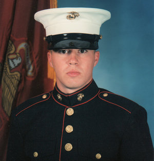 USMC Michael Bancroft in dress blues