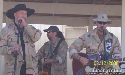 Montgomery Gentry performing for the troops during 2006 USO tour in Iraq