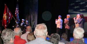 The Oak Ridge Boys signing the Star Spangled Banner at a veterans event in Branson on November 5, 2009.