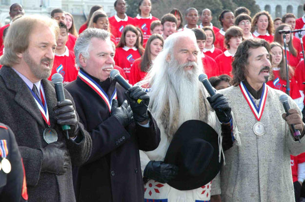 The Oak Ridge Boys perform the national anthem in Washington D.C. at the closing ceremonies of the National Anthem Project, a three-year initiative created by the National Association for Music Education (MENC) to promote familiarity of the Star Spangled Banner.
