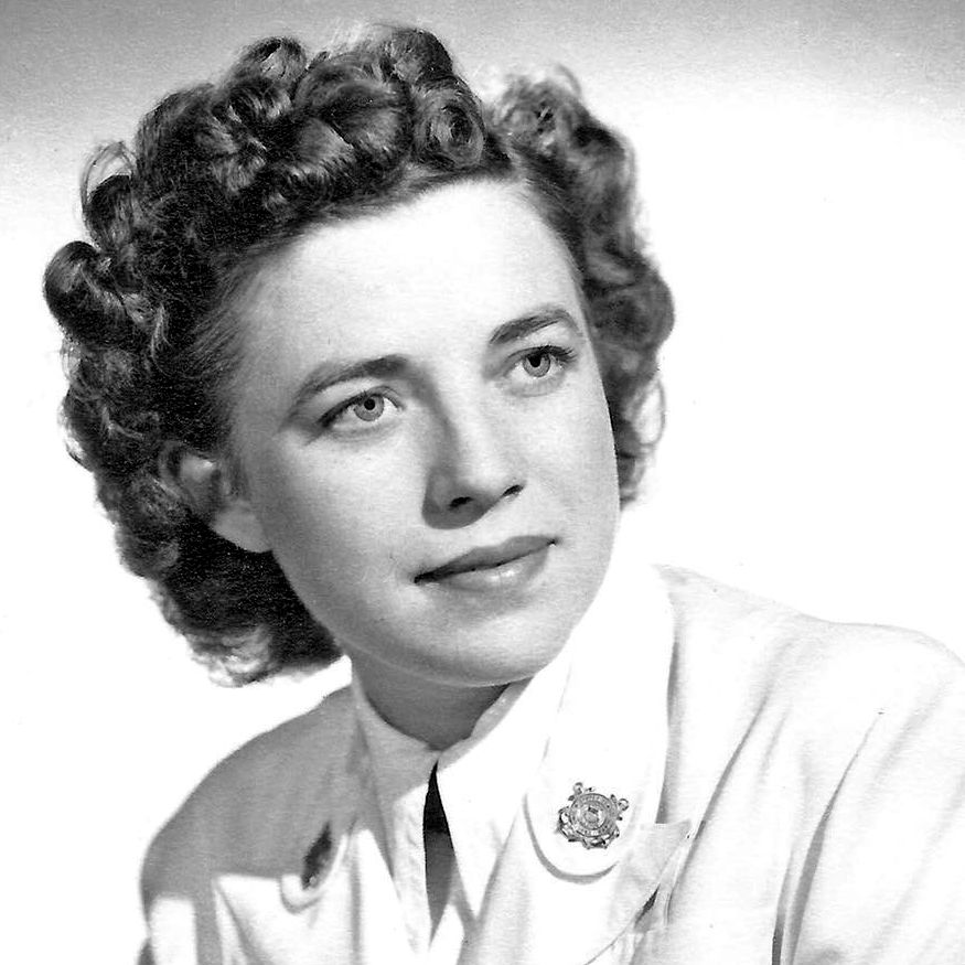 Rosalen H. Becker, U.S. Coast Guard veteran and trailblazer for women's equality, poses for an undated photo. At the height of World War II, Becker volunteered for the United States Coast Guard Women's Reserve, known as Semper Paratus Always Ready or SPARs, where she became the first woman in the radio technician rating and ultimately advanced to radio technician 2nd class. (Photo courtesy of James P. Becker)