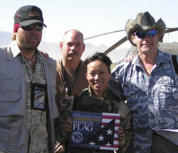 Ted Nugent and Toby Keith with troops in Gardez Afghanistan - 2004