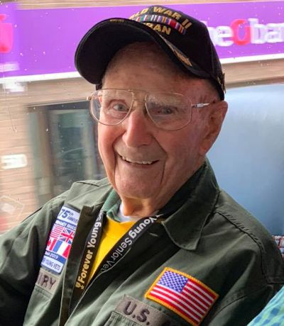 First Army World War II veteran Andrew Kiniry is all smiles during a trip to Europe for a commemoration ceremony. (U.S. Army photo by Warren Marlow)