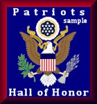 Patriots Hall of Honor badge sample
